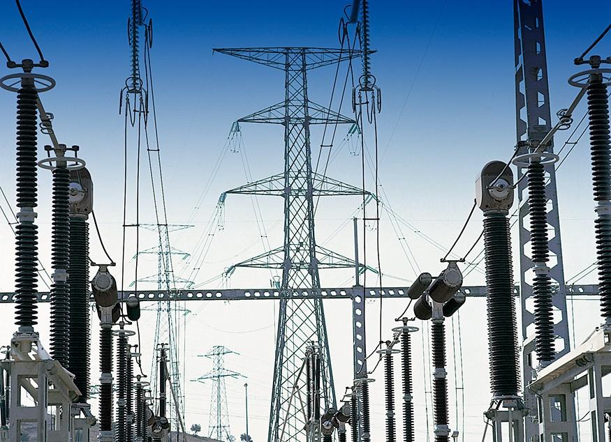 revisión industrial con drone en redes eléctricas